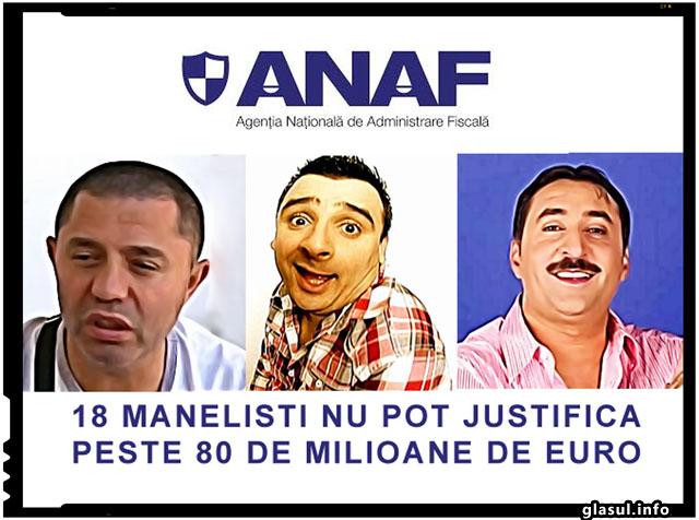 ANAF-ul a ajuns in cele din urma si la manelistii care nu pot justifica zeci de milioane de euro