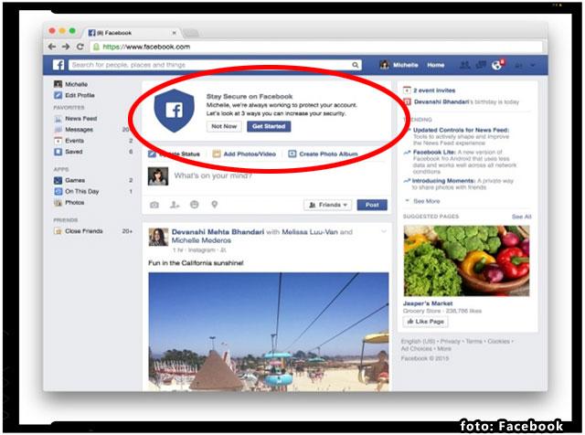 Facebook a lansat o noua unealta de verificare pentru a proteja securitatea conturilor utilizatorilor, foto: Facebook