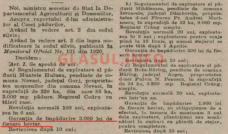 Regimul de exploatare al padurilor era superior in perioada interbelica fata de cel al mafiei politice actuale