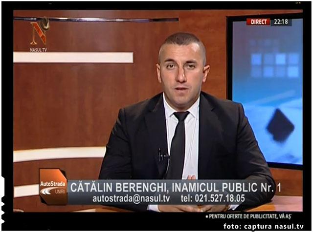 """Catalin Berenghi: """"In serviciile secrete (din Romania), din trei oameni doar unul mai apara interesele poporului roman!"""", foto: captura Nasul TV"""