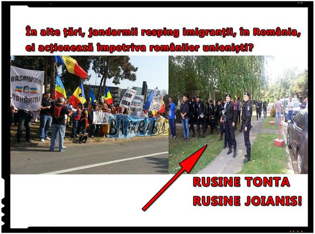 "Bogdan Diaconu: ""In alte tari, jandarmii resping imigrantii, in Romania, ei actioneaza impotriva romanilor unionisti!"""