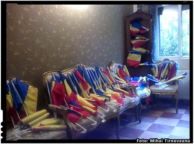 O suta de steaguri pentru Harghita si Covasna de la un luptator, foto: Mihai Tirnoveanu