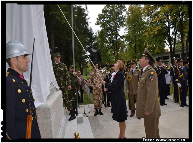 Reinaugurarea Cimitirului de Onoare Romanesc de la Teis, foto: www.once.ro