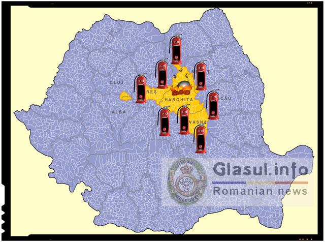 Provocare din partea extremistilor maghiari. Zeci de focuri aprinse in localitati din judetele Harghita, Covasna si Mures