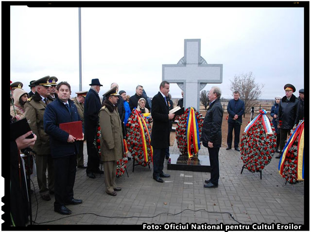Inaugurarea Cimitirului de Onoare dedicat militarilor romani cazuti la Stalingrad, foto: Oficiul National pentru Cultul Eroilor