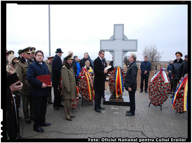 Inaugurarea Cimitirului de Onoare dedicat militarilor romani cazuti la Stalingrad, foto: Oficiul National pentru Cultul Eroilor
