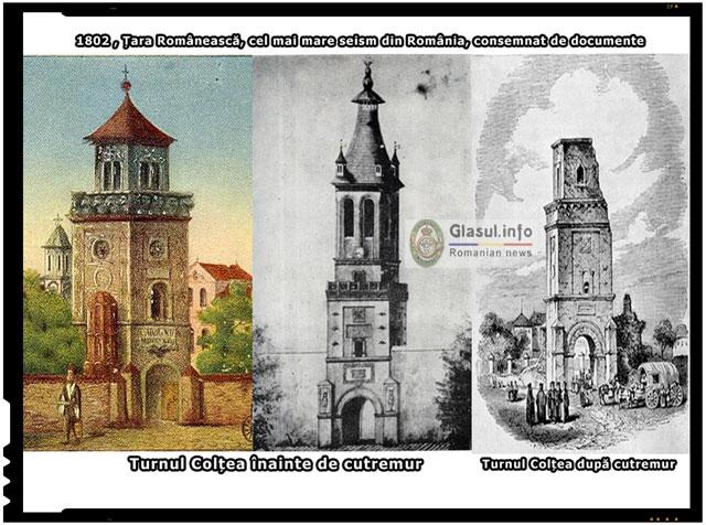 Pe 14 octombrie 1802 a avut loc in Tara Romaneasca cel mai mare seism din Romania, consemnat de documente