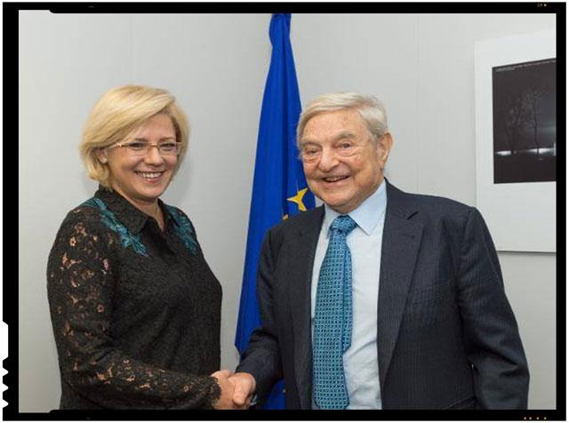 Comisarul european Corina Cretu s-a intalnit la Bruxelles cu George Soros