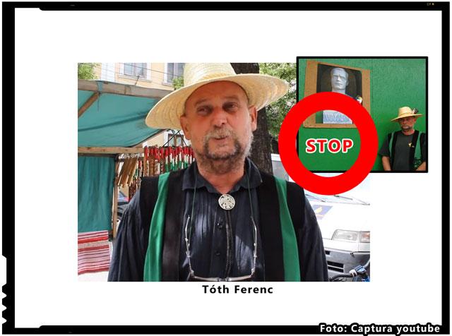 Prima condamnare pentru promovarea lui Wass Albert: TOTH FERENC, amendat cu 10.000 de lei, iar bustul lui Wass Albert confiscat de autoritati, captura youtube, erdely.ma