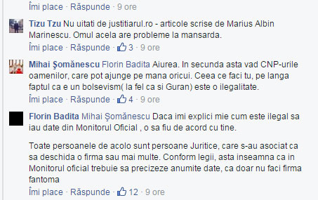 Justitiarul.ro, Marius Albin Marinescu