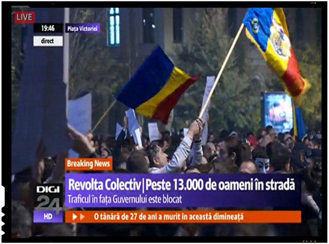 """Protest de amploare in Piata Victoriei din Bucuresti. Se striga: """"Asasinii, asasinii..."""", foto: digi24.ro"""