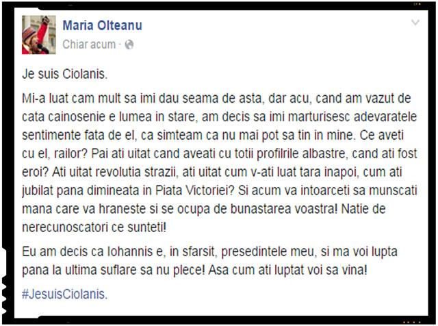 Je suis Ciolanis!
