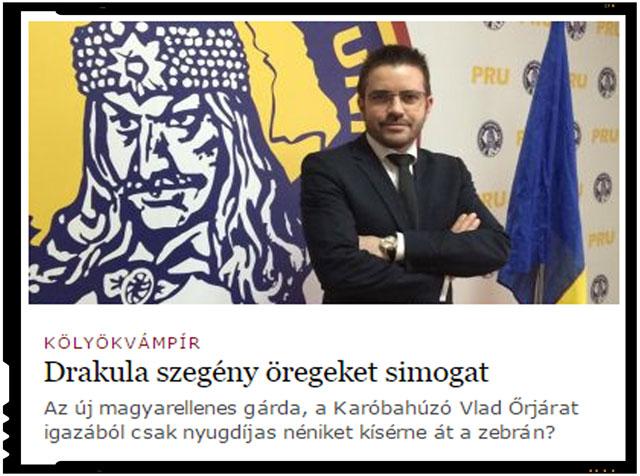 Presa maghiara despre Patrula lui Tepes si Partidul Romania Unita, sursa foto: captura http://mno.hu Magyar Nemzet
