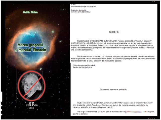 """Ovidiu Bidian este autorul cartii intitulate """"Marea greșeală a """"marelui"""" Einstein"""""""