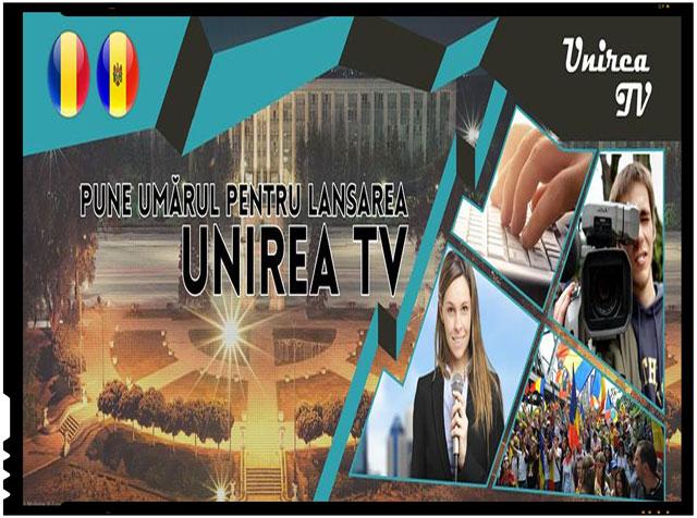 Pune si tu umarul pentru lansarea UNIREA TV, prima televiziune unionista din Republica Moldova