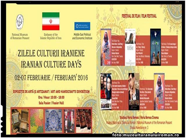 ZILELE CULTURII IRANIENE LA MUZEUL NATIONAL AL TARANULUI ROMAN, foto: muzeultaranuluiroman.ro