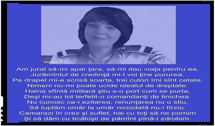 Mariana Efrim: AM JURAT SĂ-MI APĂR ȚARA!