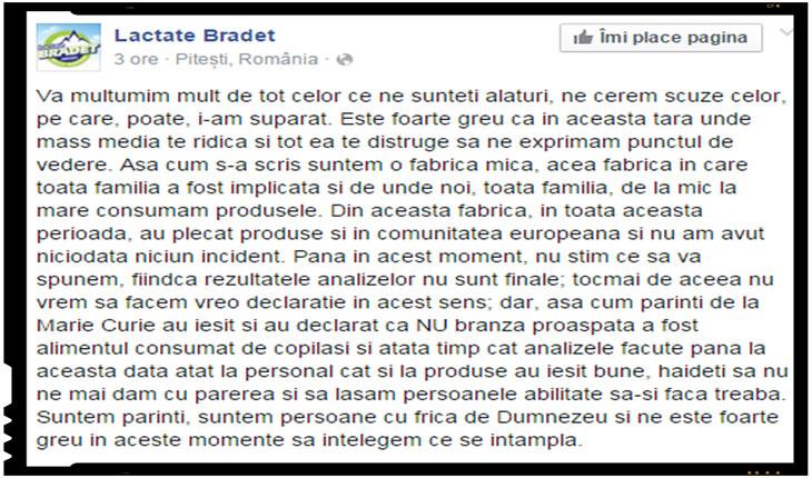 Je suis Lactate Bradet! De azi voi boicota Auchan!