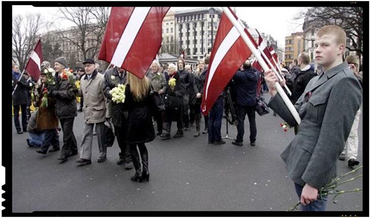 Letonia - Marsul veteranilor care au luptat de partea Germaniei impotriva URSS Foto: Oksana Dzhadan / sputniknews.com