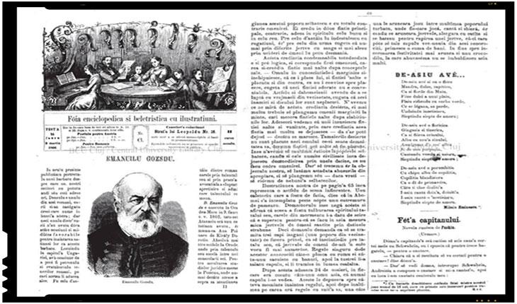 Pe 9 martie 1866 Mihai Eminescu debuta in revista Familia. Acum, autoritatile incompetente din Romania au pierdut poezia de debut a lui Eminescu!