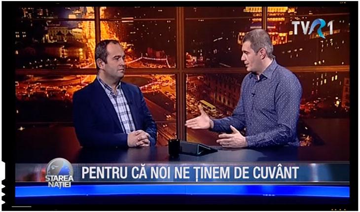 Dragos Patraru s-a tinut de cuvant si ofera publicitate in valoare de 50.000 de Euro firmei Lactate Bradet, foto: captura TVR 1