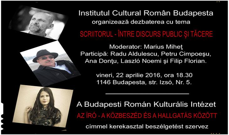 Prezenta romaneasca la cea de a XXIII-a editie a Festivalului International al Cartii de la Budapesta, 21-24 aprilie 2016, foto: icr.ro