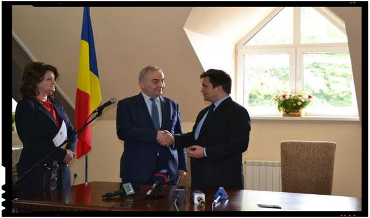 Vesti bune pentru romanii din Transcarpatia. Ministrul afacerilor externe, Lazăr Comănescu, a inaugurat Consulatul României la Solotvino, foto: uzhgorod.in