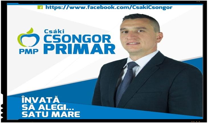 Un alt candidat aruncat in lupta electorala de catre Partidul Miscarea Populara (PMP) in incercarea de a atrage electoratul maghiar este Csaki Csongor.