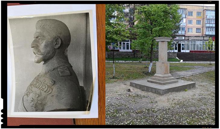 Monumentul Regelui Ferdinand la Nisporeni - Strangere de fonduri pentru refacerea monumentului distrus de catre sovietici, FOTO: faptanuvorba.net