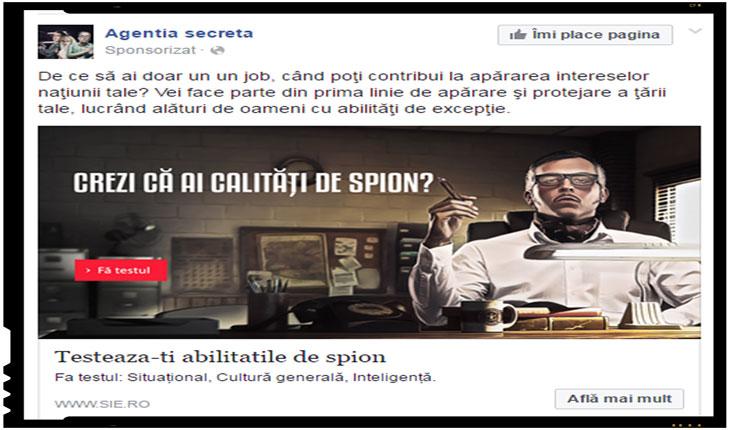 SIE recruteaza viitori spioni de pe retelele de socializare