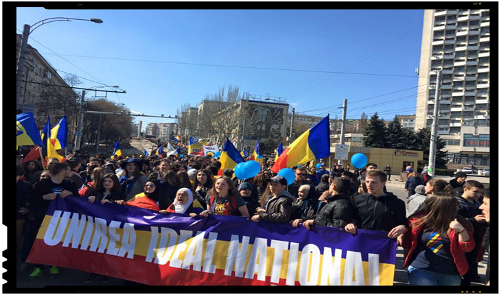 Tinerii Moldovei promoveaza Unirea cu Romania in peste 800 de sate din Republica Moldova, Foto: Tinerii Moldovei
