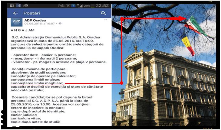 Strigator la cer! In Romania, daca vrei sa te angajezi la statul roman esti obligat sa cunosti limba maghiara!