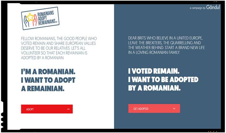 Campanie inedita Gandul.info: Adopta un britanic care vrea sa ramana in UE!, Foto: gandul.info