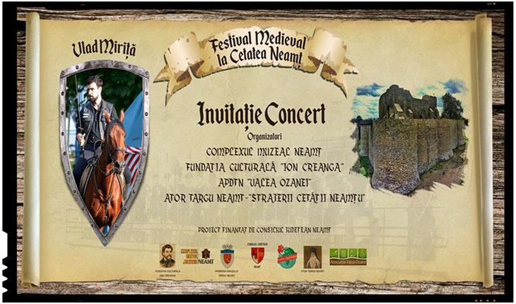 Festival medieval organizat cu ocazia Zilelor Cetăţii Neamţului, Foto: www.facebook.com/festivalmedievalcetateaneamt