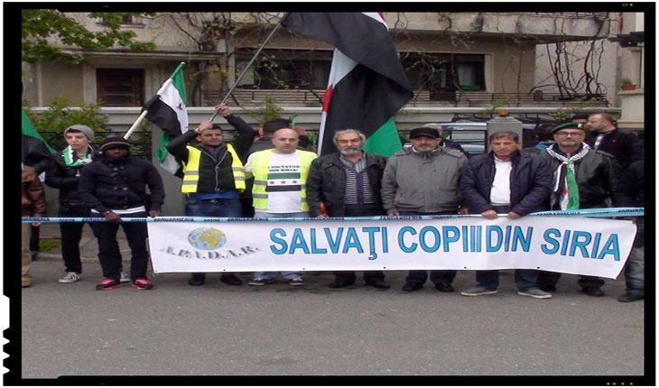 20 iunie - Ziua mondiala a refugiatilor : Protest in fata ambasadei Siriei din Romania