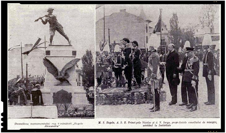 22 mai 1931 - Dezvelirea Monumentul Regimentului 9 Vânători