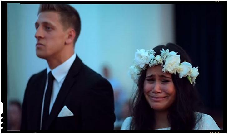 Valoarea identitatii - mireasa maori in lacrimi atunci cand nuntasi efectuaza dansul Haka, Foto: captura Youtube