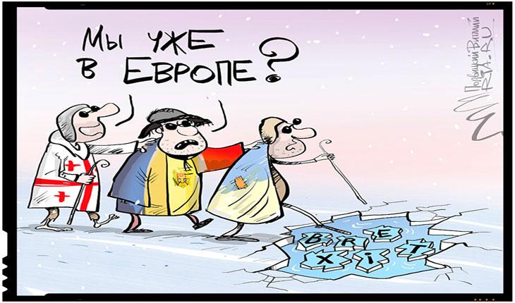 Cum isi bate joc presa rusa de Republica Moldova, Foto: caricatura Ria Novosti
