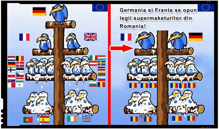 Germania si Franta se opun pe fata legii supermarket-urilor din Romania!