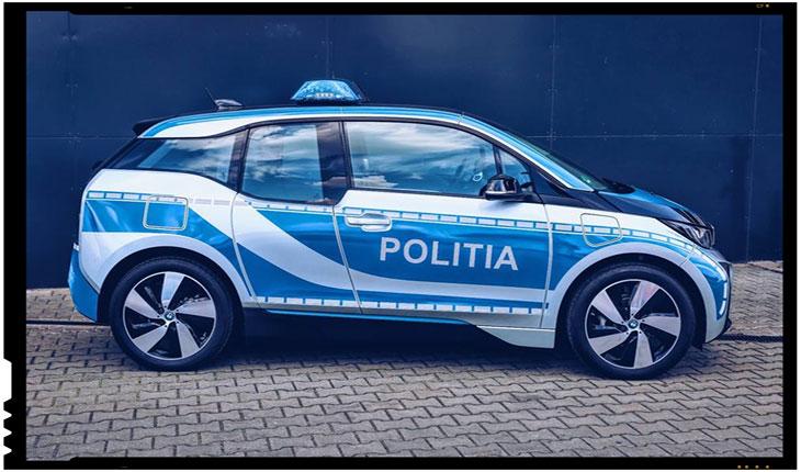 Politia Romana a fost dotata in premiera cu o autospeciala electrica, Foto: facebook.com/PolitiaRomanawww.politiaromana.ro/