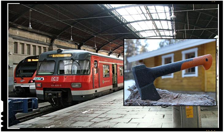 Un imigrant afgan a atacat cu toporul pasagerii unui tren in Germania