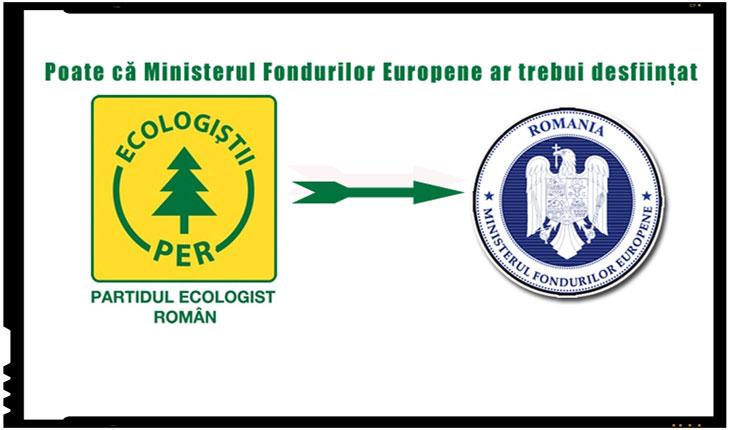 PER vrea desfiintarea Ministerului Fondurilor Europene