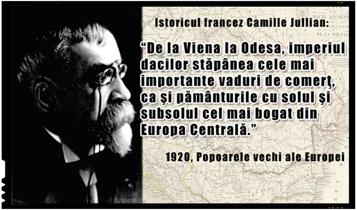 "Camille Jullian, istoric francez: ""Imperiul dacilor stapanea de la Viena la Odesa"""