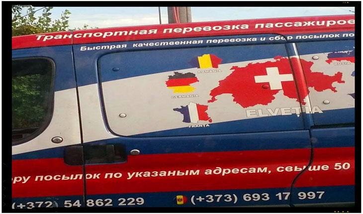 """In ciuda ambasadorului James Pettit, """"rusii"""" din Republica Moldova afiseaza ostentativ harti cu Romania Mare, Foto: Sofia Angelica / www.facebook.com/CALL9II"""