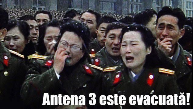 Antena 3 este evacuata, Foto: Facebook