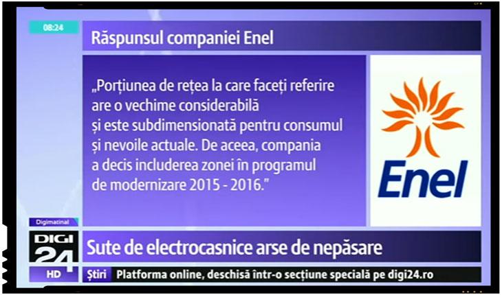 Suma imensa pe care Enel trebuie sa o plateasca statului roman: 400 milioane de euro! , Foto: captura foto Digi 24