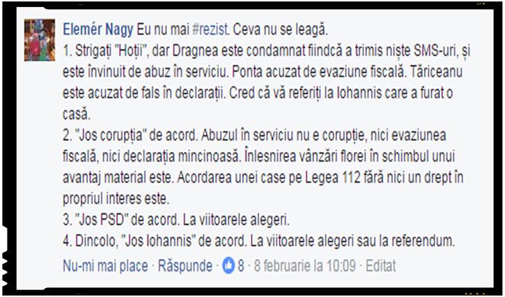 """Un roman cu capul pe umeri: """"Eu nu mai #rezist. Ceva nu se leagă!"""", Foto: captura facebook"""