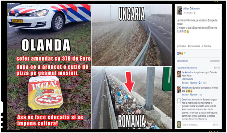 Un sofer din Olanda a fost amendat cu 370 de euro dupa ce a aruncat o cutie de pizza pe geamul masinii