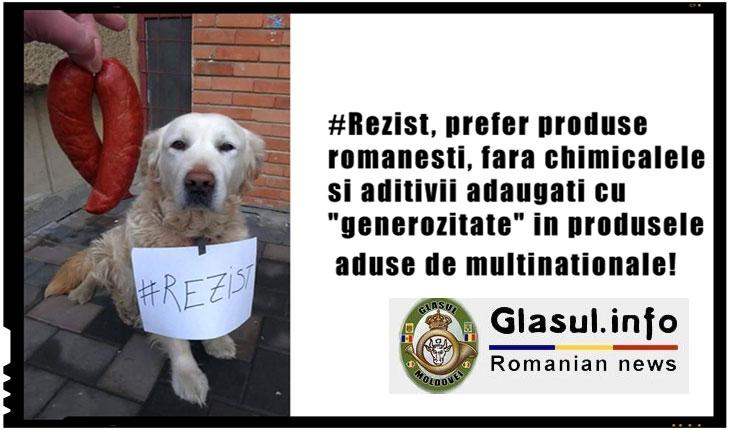 """#Rezist, prefer produse romanesti, fara chimicalele si aditivii adaugati cu """"generozitate"""" in produsele aduse de multinationale!, Foto: facebook.com"""