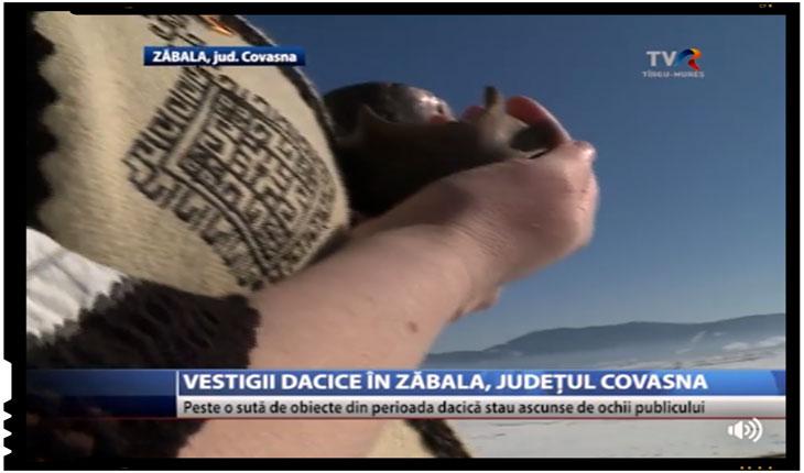 """Vestigii dacice in Zăbala, judetul Covasna: """"Peste 100 de obiecte din perioada dacica stau ascunse de ochiul publicului!"""", Foto: TVR Targu Mures"""
